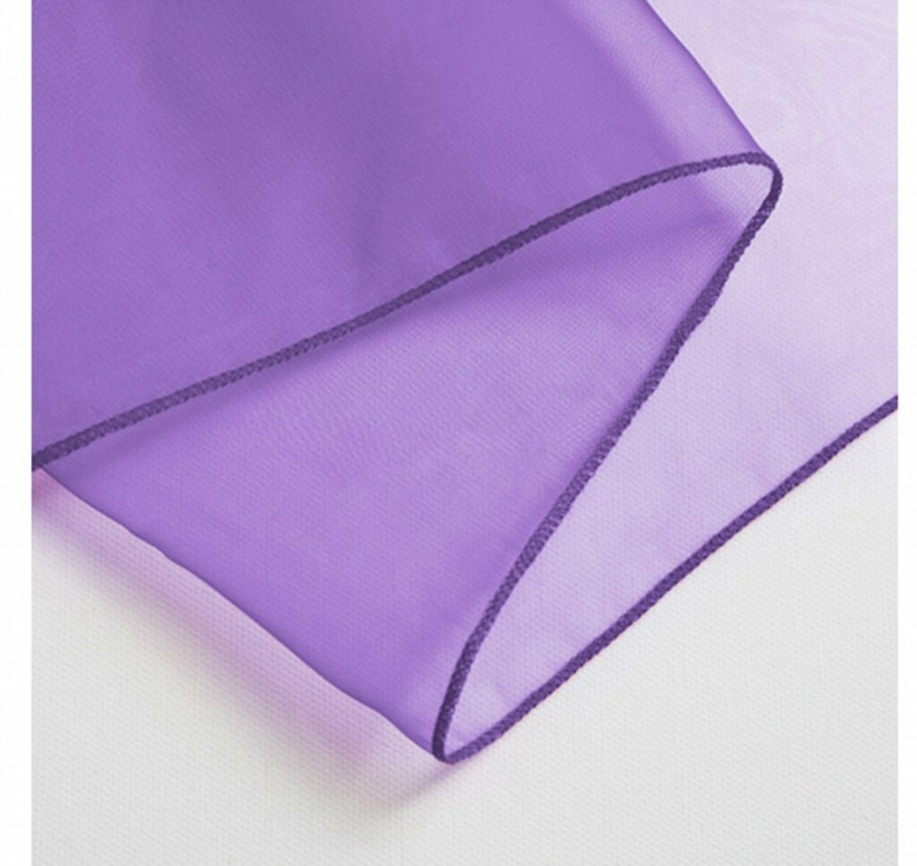 Purple table runner